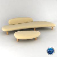 Freeform Sofa & Ottoman - Isamu Noguchi