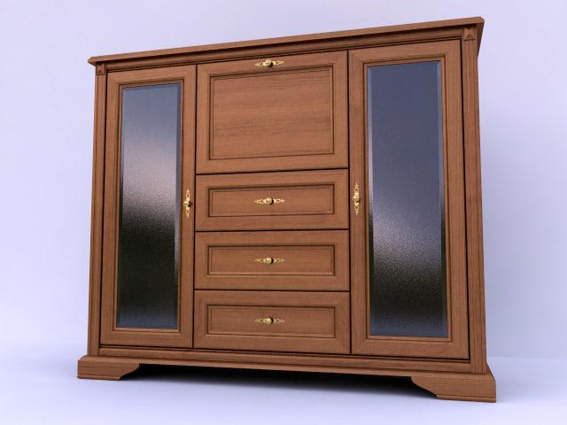 3ds max cabinet black white