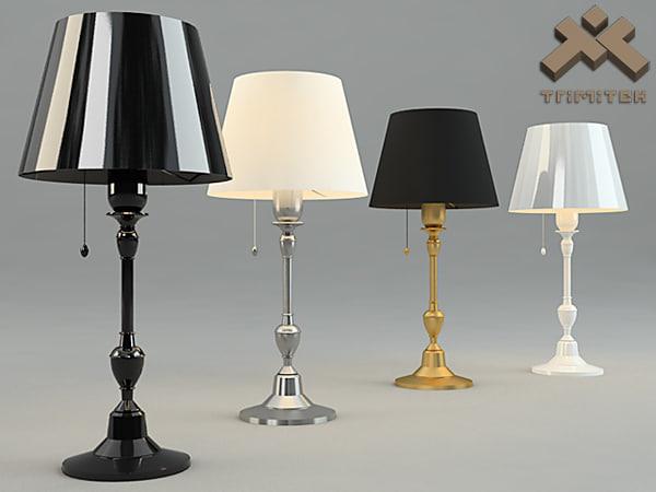 3d model simple table lamp