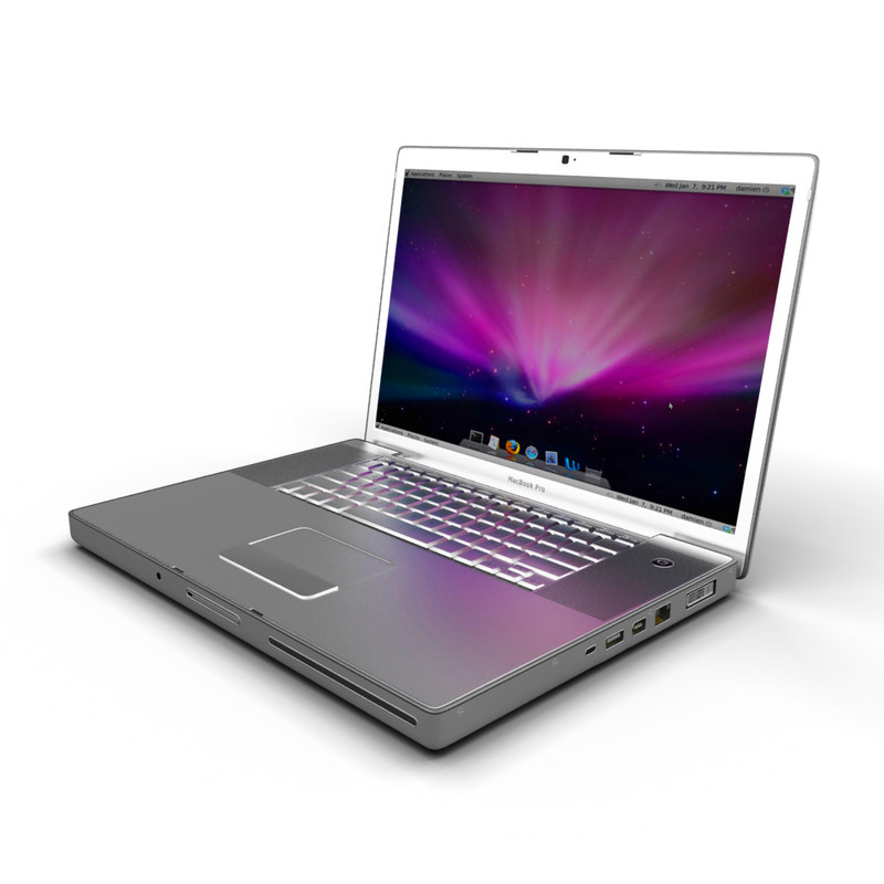 macbook pro 3d model