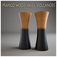 3dsmax mango wood vases volcanoes