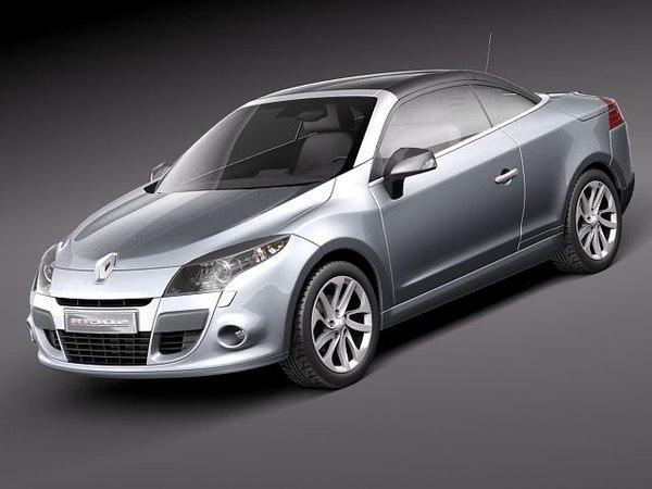 3d renault megane 2011 sport coupe model