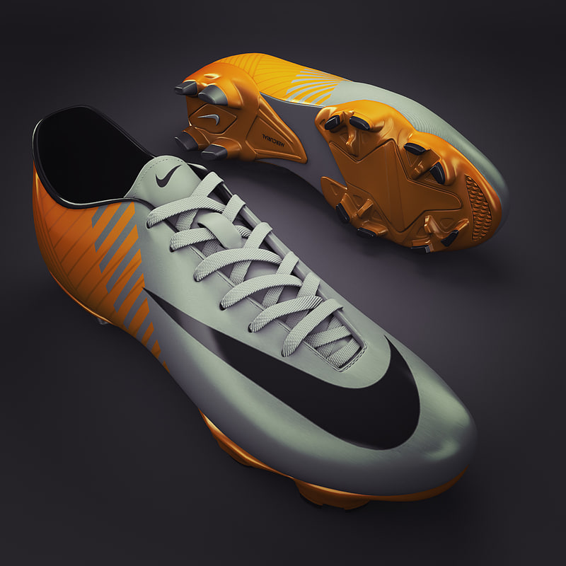 soccer shoes - cleats 3d model