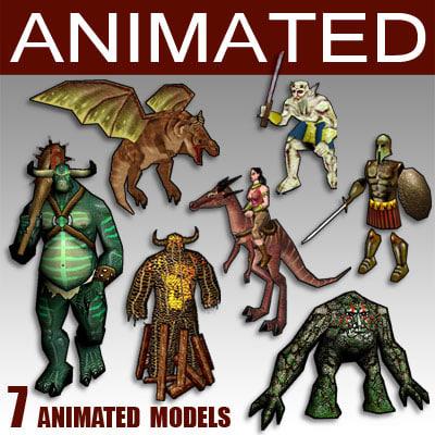 glest animation daemon 3d model