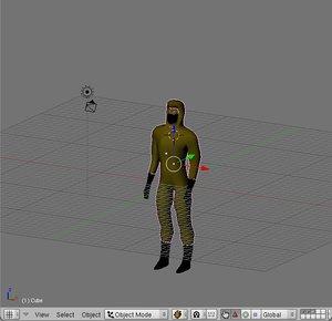 free ninja character 3d model