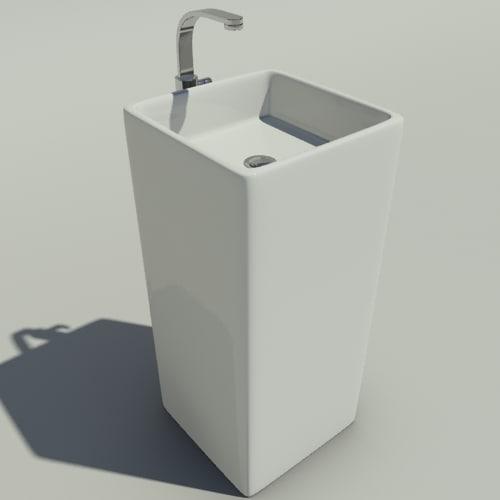 washbasin flaminia monowash 3d max