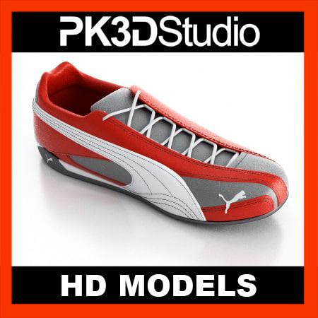 puma shoe 3d model