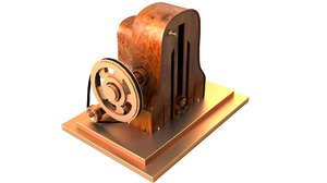 old school radio 3d model