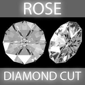 rose diamond cut 3d model