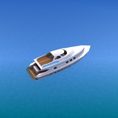 3d ship yacht