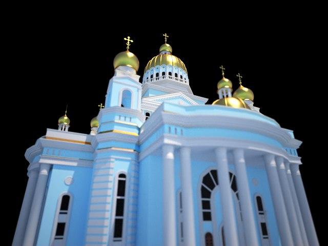 cathedral fedor ushakov 3d model