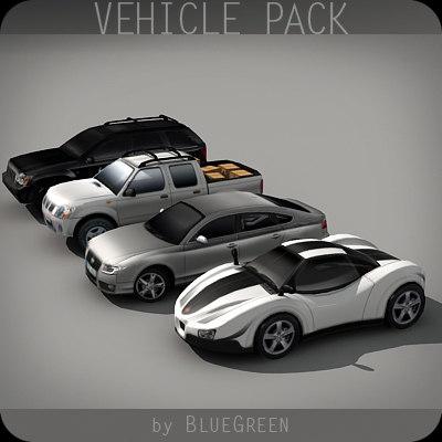 realtime vehicle pack 3d model