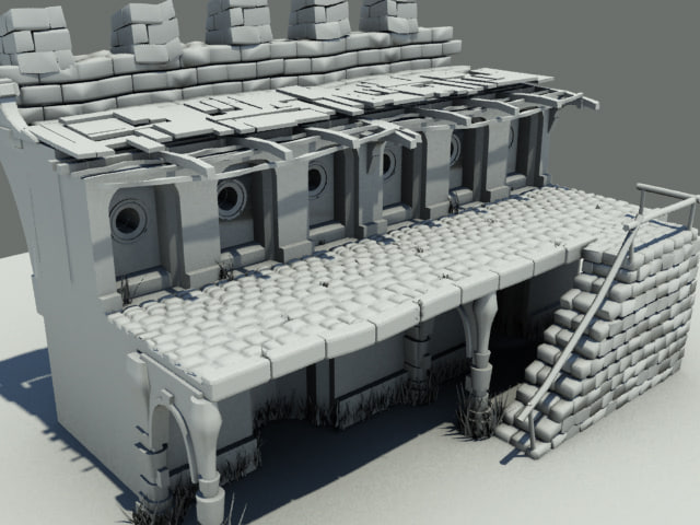 3ds max fantasy wall