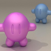 small toon character 3d 3ds