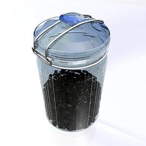 3d model frasco pot