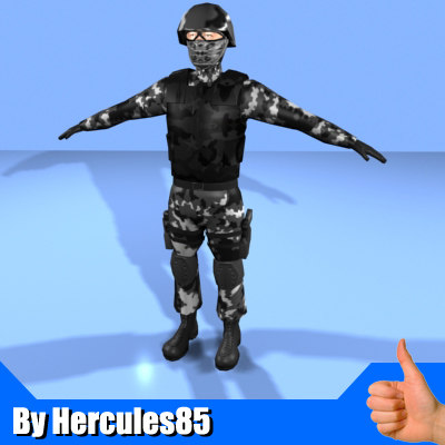 3ds max soldier character