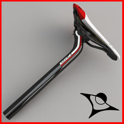 seat seatpost road 3d max