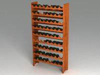 wine shelf 3d model
