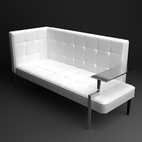 settee contemporary style interior 3d model