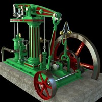 column beam steam engineer 3d model