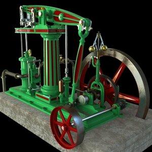 column beam steam engineer 3d model