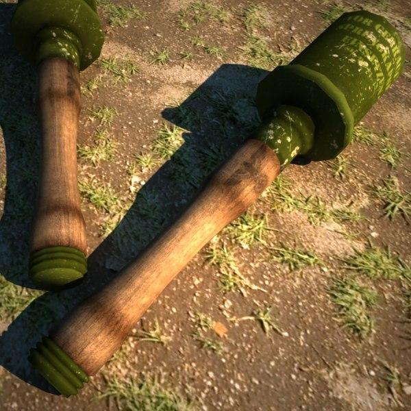 3d 24 grenade model