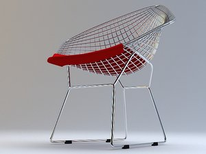 diamond chair bertoia 3d model