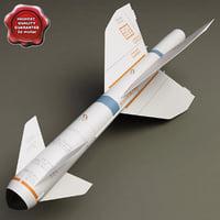 aircraft missile agm-119b pengiun 3d max