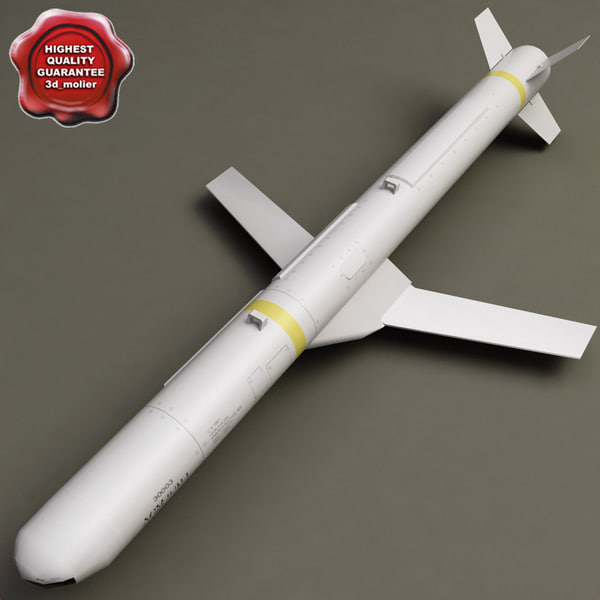 aircraft missile agm-84h slam 3d model