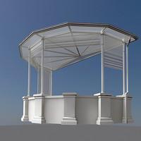 3d garden canopy model