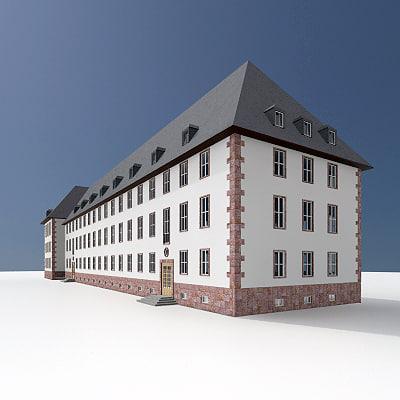 3dsmax old german office building