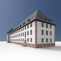 3dsmax old german office building