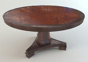 classic antique table 3d 3ds