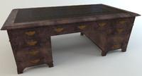 antique writing desk 3d model