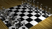 free chess set 3d model