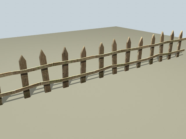 fence yards borders 3d model