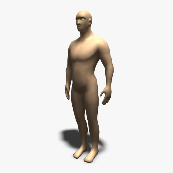 untextured male 3d model