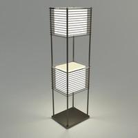 floor lamp - materials 3d model