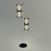 floor lamp - materials 3d max
