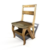 3d library chair