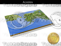 Alaska, High resolution 3D relief maps