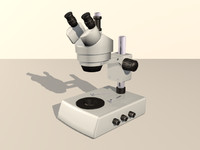 modern microscope 3d model