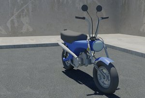 dax motorcycle 3d max