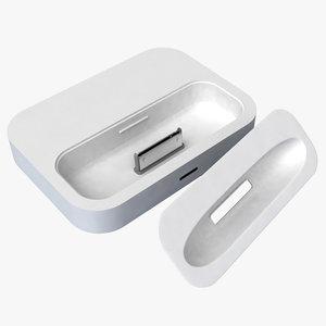 3d apple dock adapter model