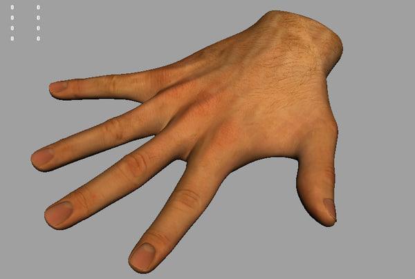 maya hand modeled rigged
