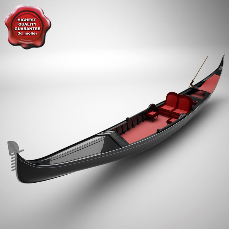 realistic venetian gondola 3d model
