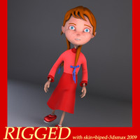 3d annabella girl model