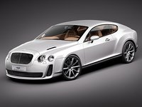 3d bentley continental supersport 2010