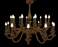 brass chandelier 3d model