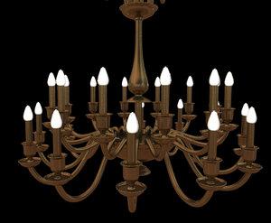 brass chandelier 3d model